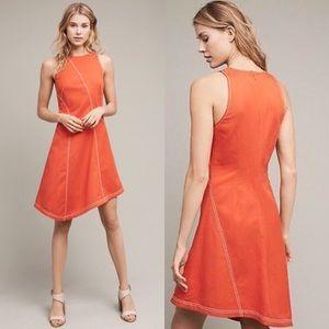 NWT Anthropologie Maeve Asymmetrical Bileu Dress
